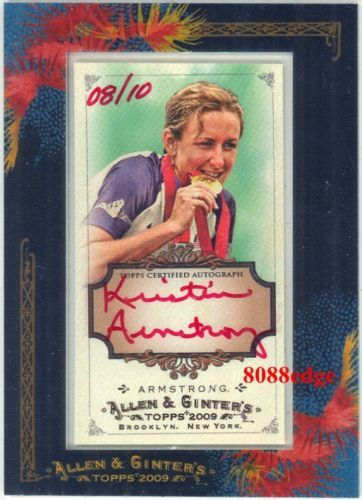 2009 ALLEN & GINTER AUTO RED  KRISTIN ARMSTRONG  10 AUTOGRAPH TIME TRIAL gold
