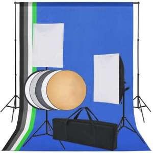 vidaXL-Fotostudio-Set-met-5-Gekleurde-Achtergronden-en-2-Softboxen-Fotografie
