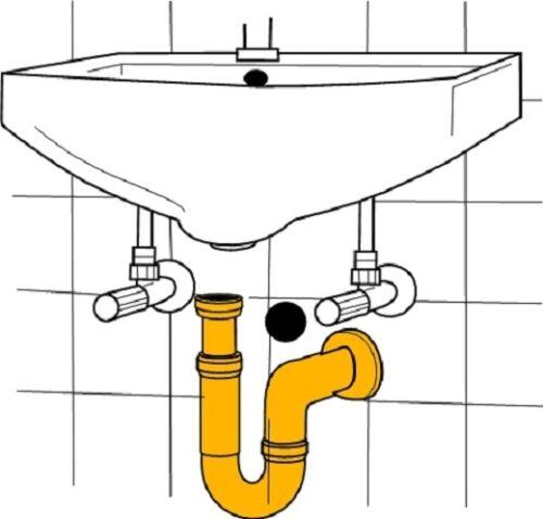 "5 Stück AWS Röhren 11//4/"" x 32mm Siphon mit Wandrosette für Waschbecken"