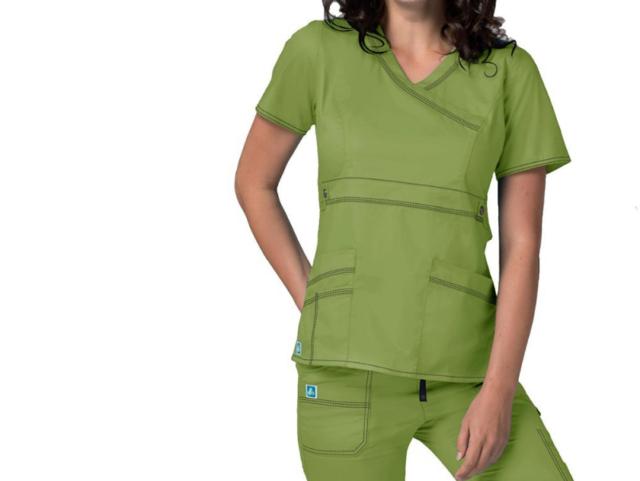576cdc0bfc9 Pop Stretch Adar Medical Scrub Set Celery 3100/v Neck Top 3202 Large ...