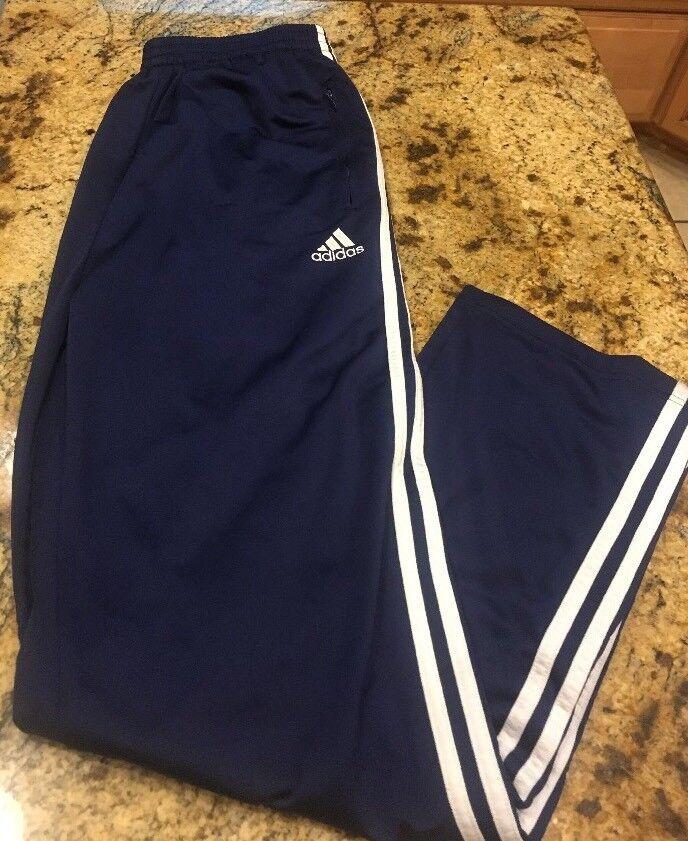 Patte de cycliste en polyester ample lâche Adidas pour homme, grande taille, bleu vieille école