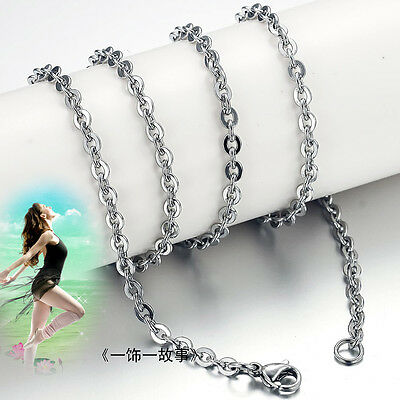50pcs Wholesale Lot Womens Charm Stainless Steel Silver Tone Necklaces Chain