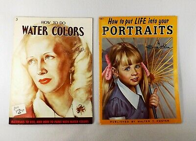 2 Painting Books-how To Put Life Into Your Portraits & How To Do Water Colors Noch Te Hard Noch Te Zacht