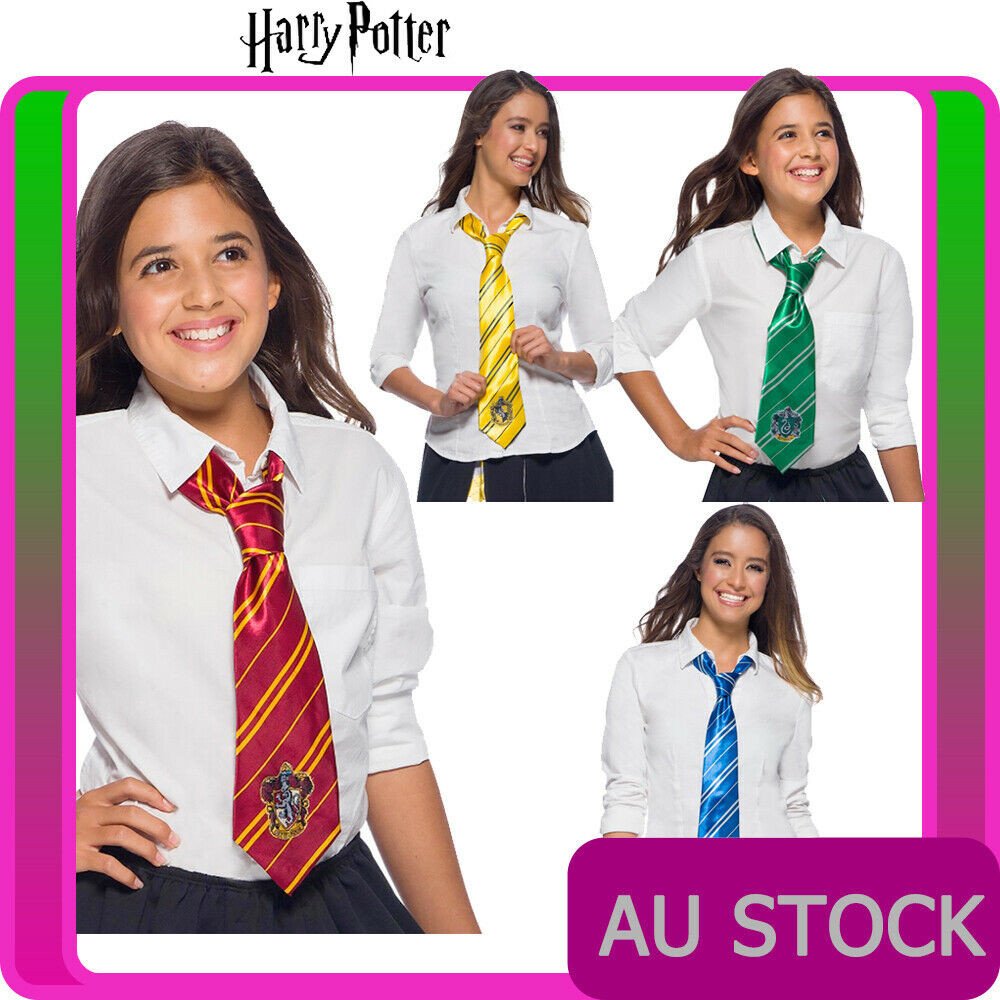 Licensed Harry Potter 4 House Tie Halloween Book Week Costume Accessories