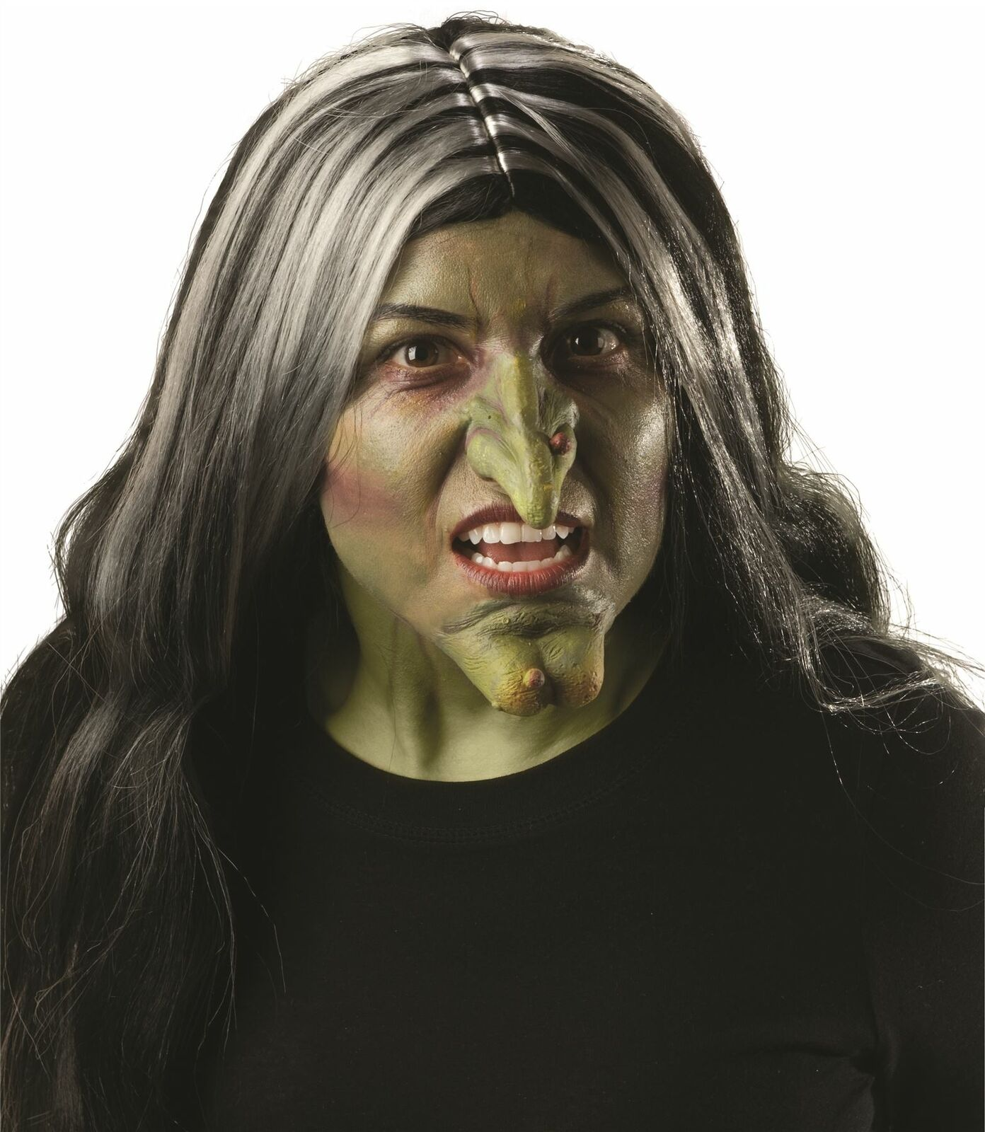 Professional Silicone Prosthetic THE WITCH Wizard of Oz Once Upon a Time Halloween Reusable and Professional Grades Available