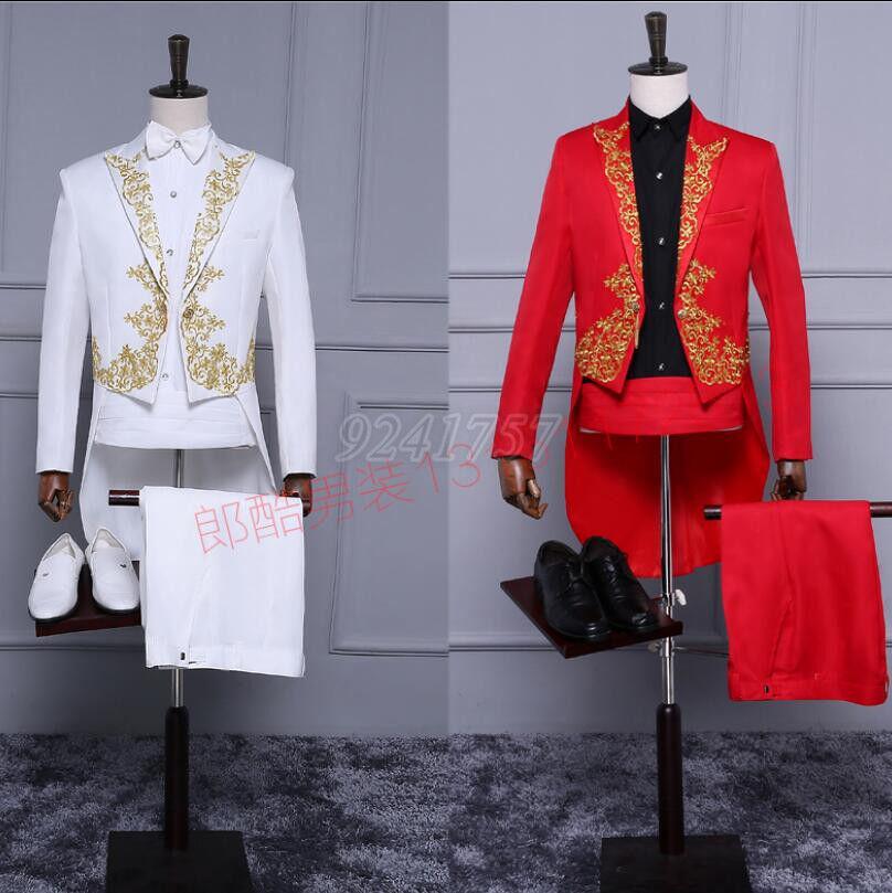 Herren Anzug Performance Kleider Smoking Kostüme Hochzeitkleid Neu Gr:M-XL/2XL
