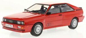 AUDI QUATTRO diecast model road car RED 1988 1:24th WHITE BOX 124064