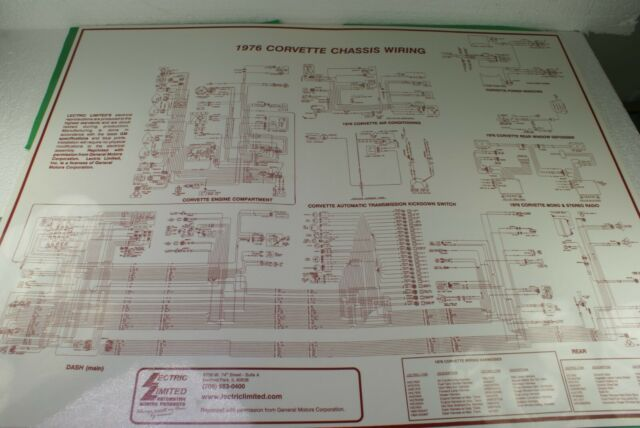 1976 Corvette Chassis Wiring Diagram Laminated Lectric
