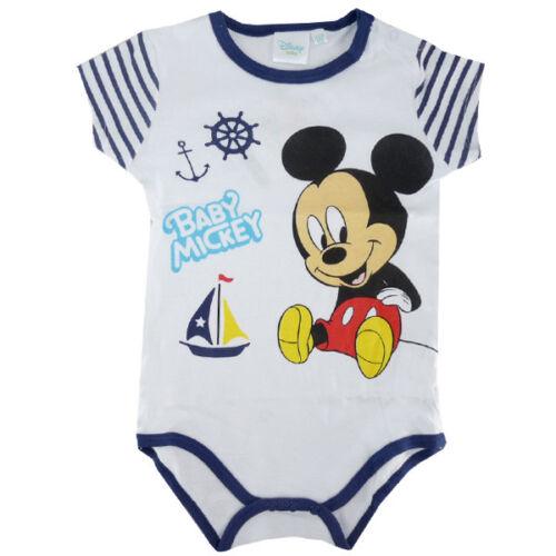 Disney Mickey-BABY BODY-Enfants-Manches courtes-Blanc-Gr 50-86