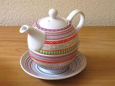 Tea for one ◦ Teekanne & Tasse aus Porzellan - Teeset - Blumenmotiv  20426