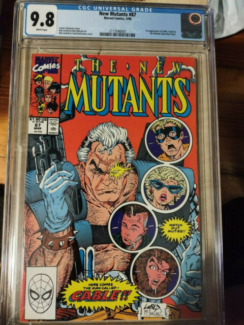 New Mutants # 87 CGC 9.8 (Marvel 1990) 🔑 1st appearance of Cable 🔥 First Print
