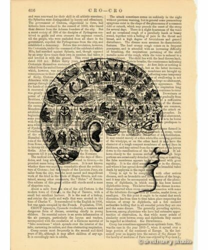 Read My Mind Art Print on Vintage Book Page Phrenology Home Office Decor Gifts