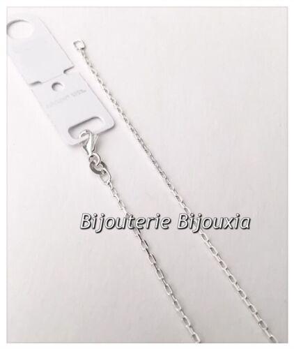 Argent Massif 925//000 Chaîne Maille Forçat- 18 cm Bijoux Bracelet fin