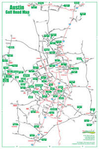 Road Map Of Austin Texas.Details About Golf Road Map Austin Texas Golf Map Golf Travel Map Golf Assessory