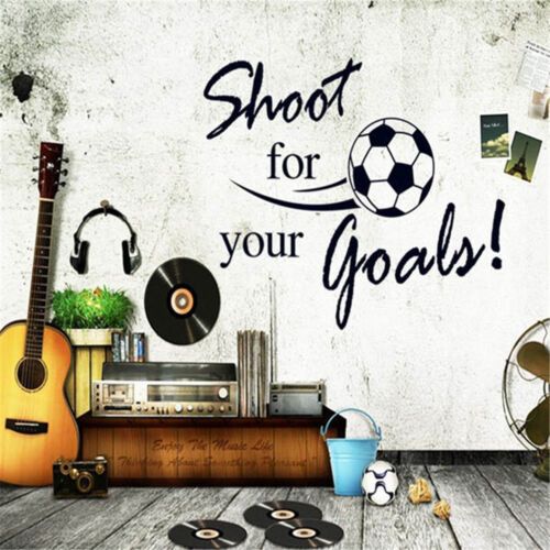 Shoot For Your Goals Soccer Wall Stickers Decals Chilren Room Decoration  LD
