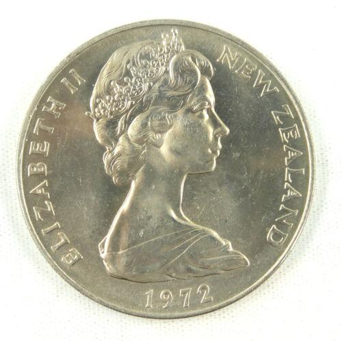1972 New Zealand Dollar Coin UNC