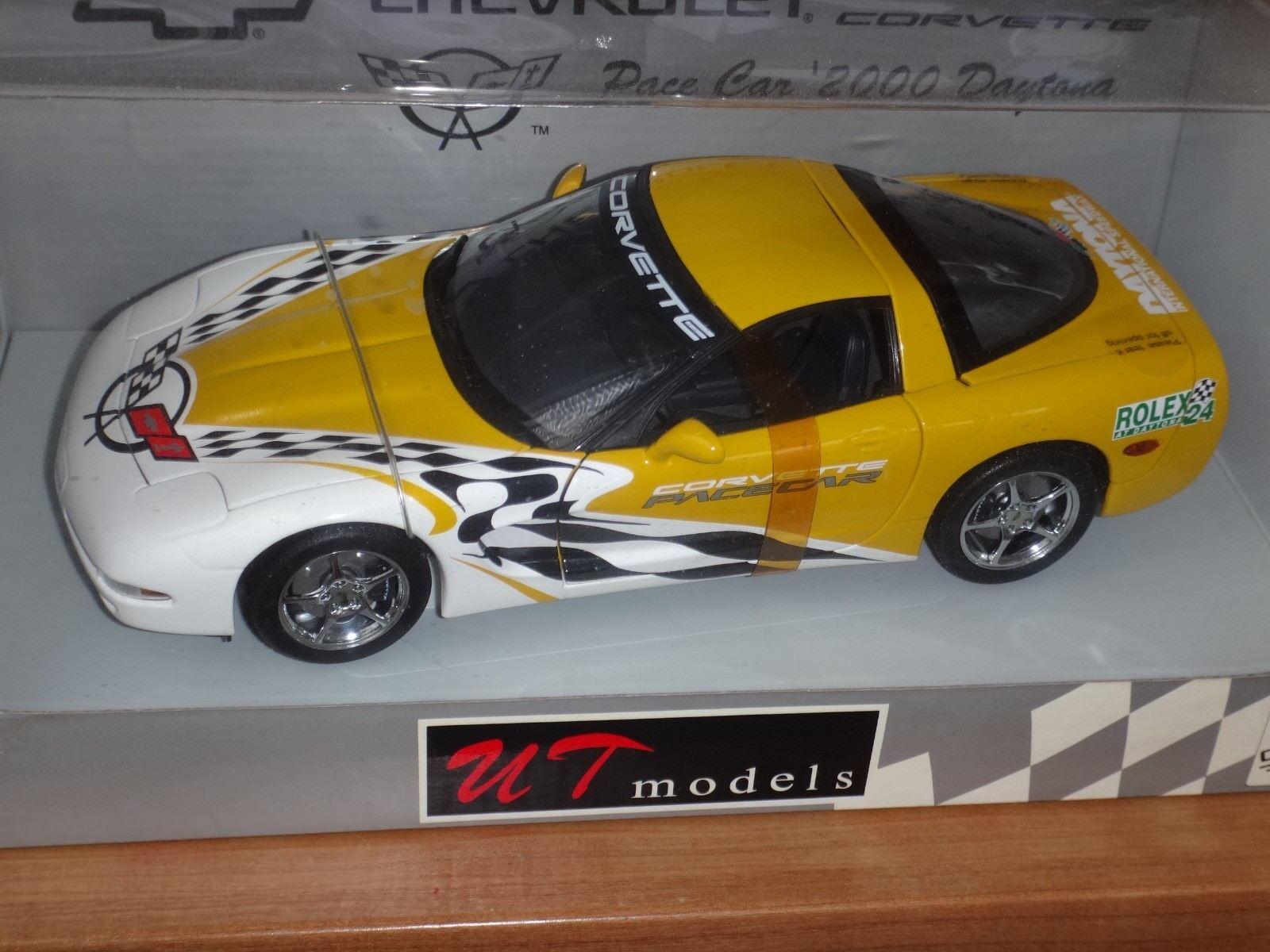 Corvette Pace Car Car Car Daytona 2000 UT Models 1/18 Collector Sold out ! | Moins Cher  78465c