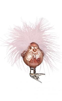 Birdie glasvogel 7 cm Silent Home Inge-verre ® de Noël Bijoux