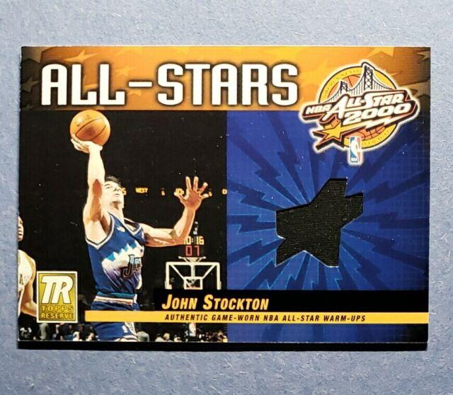 2000-01 Topps Reserve, John Stockton, All-Star Game Warm-Up Jersey - Rare