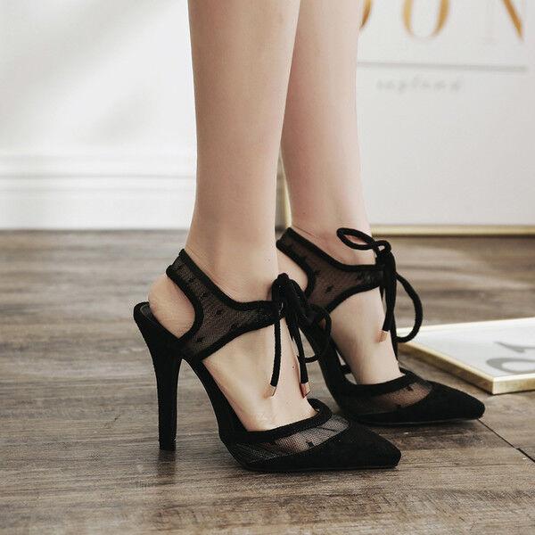 Sandale stiletto eleganti tacco   12 cm nero bianco simil pelle eleganti 9972
