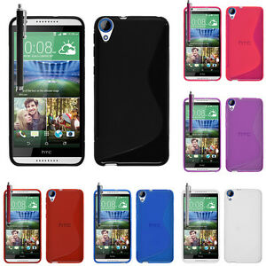 best loved 67203 2f493 Details about Protective Case for HTC Desire 820/820 Dual TPU Silicone Flip  Case Cover Case