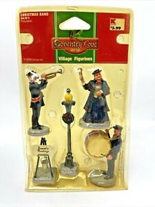 New Lemax Coventry Cove Village Figurines Christmas Band set of 5  2006