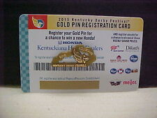 2015 Gold Kentucky Derby Festival Instant win Triple Crown Pin.Mint.New. Cond.