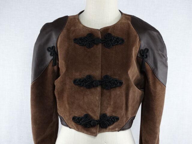 Vintage GAPELLE Leather Vest Womens Size S