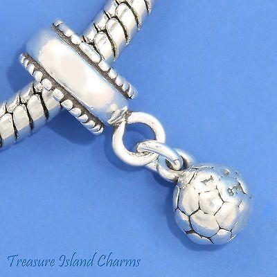 Peanut .925 3D Solid Sterling Silver European Dangle Bead Charm Euro