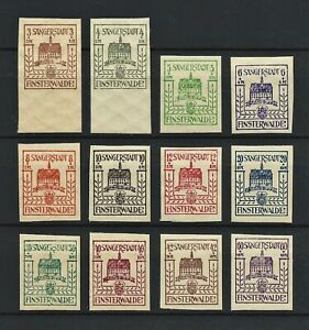 WWII Germany 1946 Rare MNH Stamps Finsterwalde Local full Edition Lokalausgaben