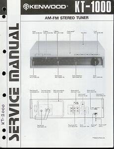 Original-Factory-Kenwood-KT-1000-AM-FM-Stereo-Tuner-Service-Repair-Manual