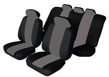 VOLVO V40 V50 V60 V70 Universal SPORTY Fabric Car Seat Covers BLACK & GREY