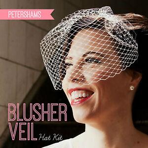 DIY Hat Kit! Make your own Bridal Blusher Wedding Veil you choose 23 ...