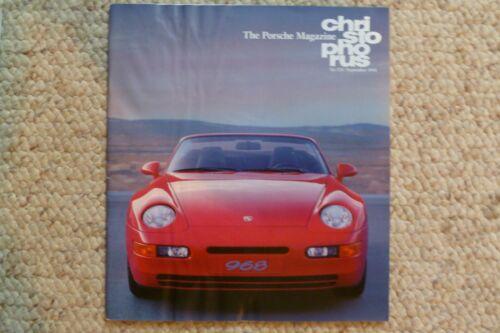 Porsche Christophorus Magazine English #231 September 1991 Awesome L@@K