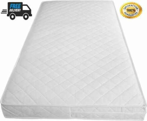 Baby Toddler Cot Bed Breathable QUILTED Removable Cover Foam Mattress All Sizes