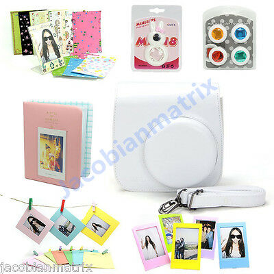 Gmatrix Fujifilm Instax Mini 8 Case Bag Accessory Bundle Set Best Gift White