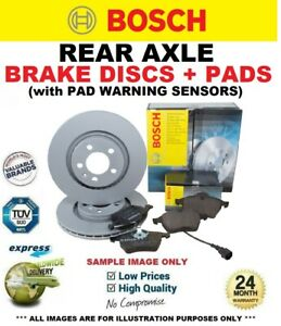 REAR DISCS + PADS + SENSORS for MERCEDES SPRINTER Chassis 313CDi 4x4 2006-2016