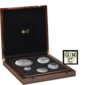 2019-039-The-Cndn-Maple-Masters-Collection-039-Prf-Set-of-5-Fine-Silver-Coins-18743
