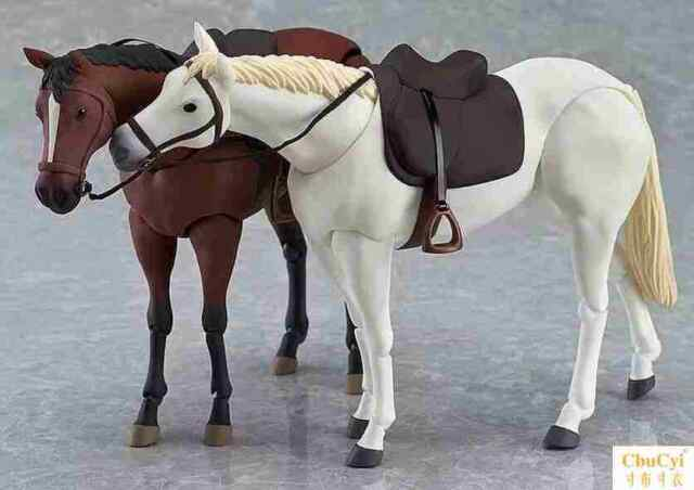 1/12 Scale Brown/White Horse Animal Model Joint Movable Fit 6'' Figure