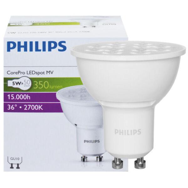 50W Philips CorePro LEDspot 4,6W GU10 827 36° NODIM