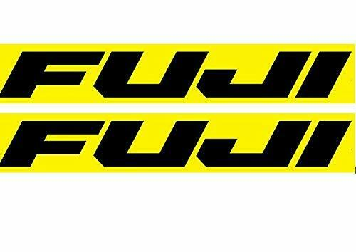 """Fuji  frame 9/"""" x 1.5/""""  Vinyl decal weather proof 2 bike stickers many colors"""