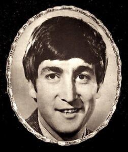Beatles-1964-Vintage-Pinup-Portrait-John-Lennon-7x9-034-Original-NM-COA