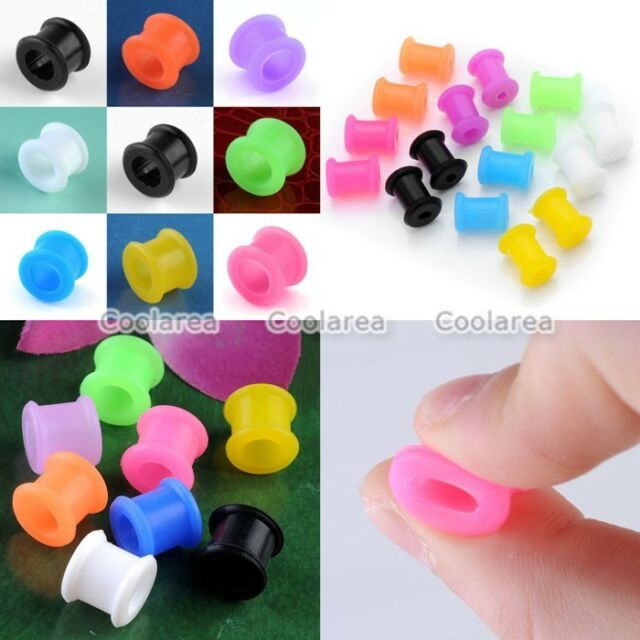 New Flexible Silicone Flared Ear Skin Tunnel Plugs Earlets Expander Stretcher