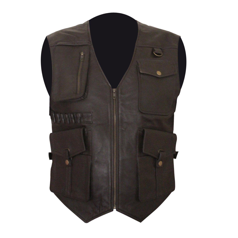Chris Pratt Jurassic World Fallen Kingdom Owen Grady Biker Leather Vest