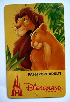 CARTE DE COLLECTION DISNEYLAND PARIS / ROI LION ADULTE | eBay