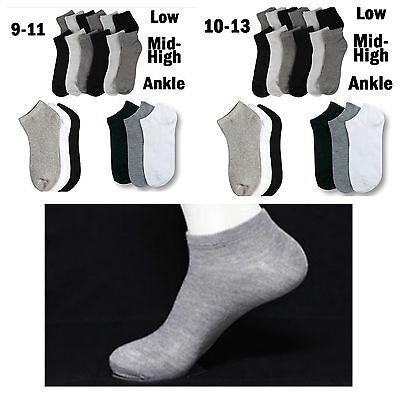 Wholesale Lot Men Women USA Logo Black//Gray Ankle Socks Sports Cotton 9-11 10-13