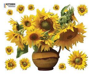 Aufkleber-Sticker-Fenstersticker-Wandaufkleber-Sonnenblume-Sunflower-Blumen-Deko