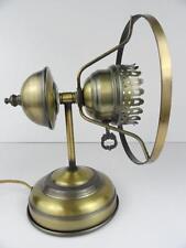 Vtg Industrial Steampunk Metal Brass Tone Antique Desk Table Lamp Night Light