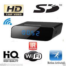 P2P Wifi IP Wireless Spy Clock Camera 720P Night Vision Motion Dection Camcorder