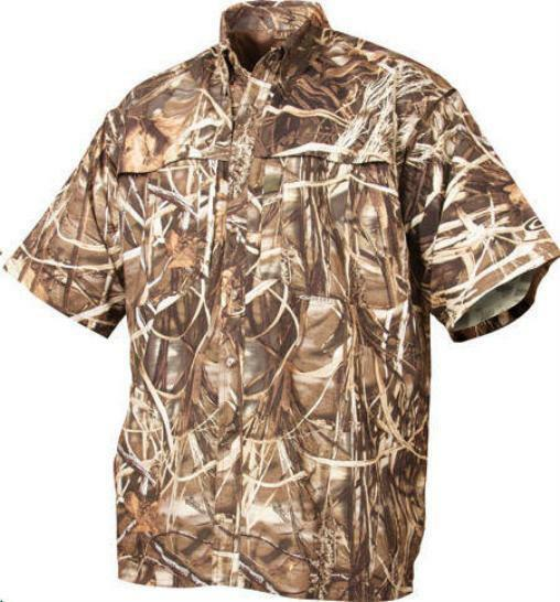 Drake Waterfowl 26000132-M 260 ShortSleeve Vented Shirt Blades Camo Medium 15358